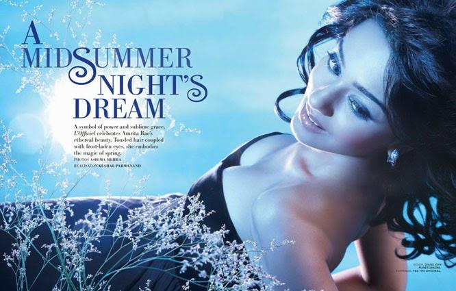 sexy Amrita Rao in L'Officiel Magazine
