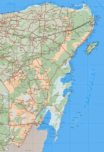 México - Quintana Roo map