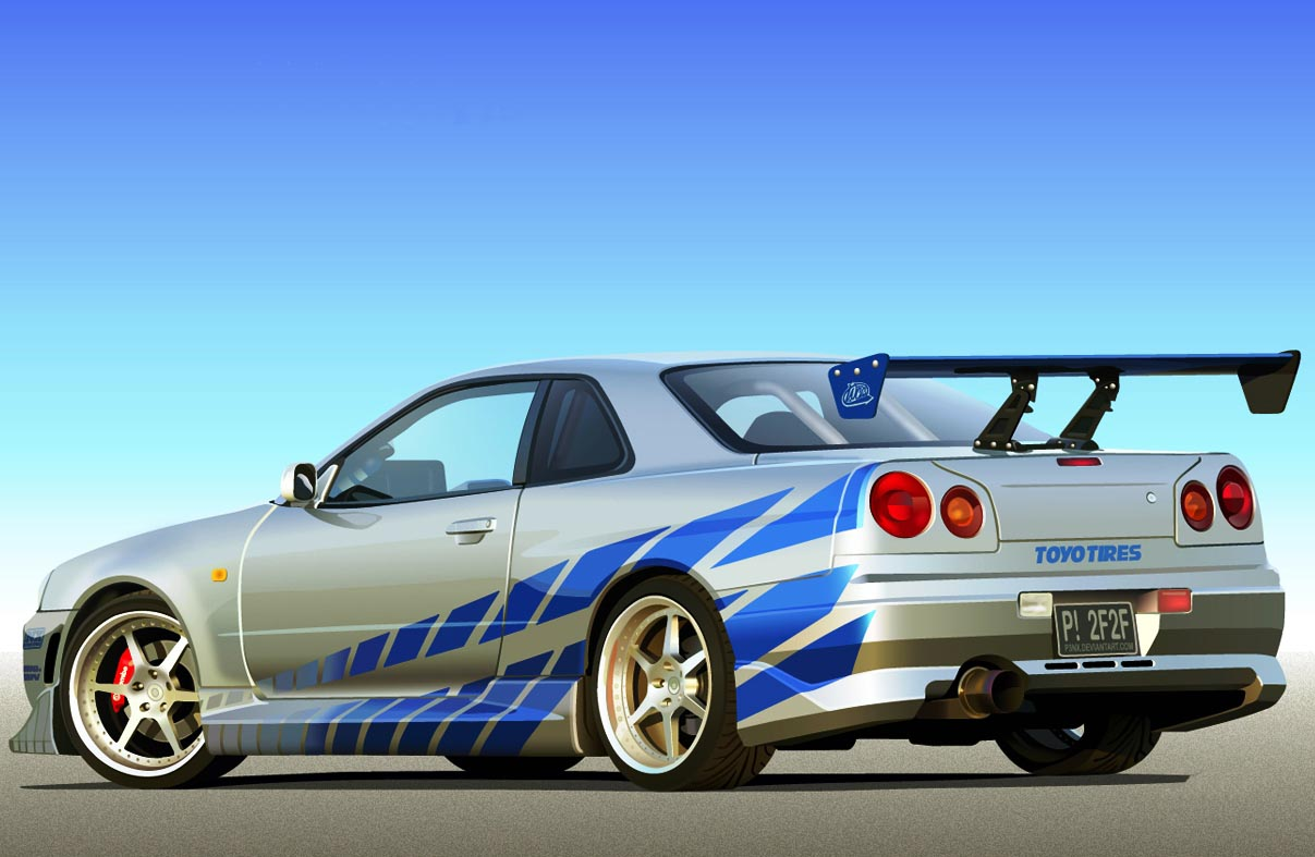 nissan skyline r34 gt r 2 fast 2 furious. Black Bedroom Furniture Sets. Home Design Ideas