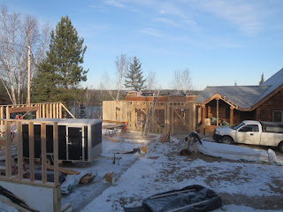 framing a custom lake home addition, huisman concepts, ely mn
