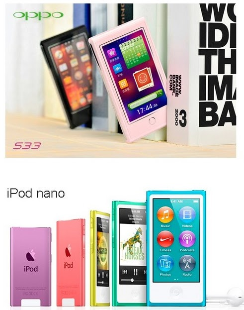 iPod Nano and OPPO S33-patent