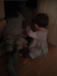 opening the wardrobe