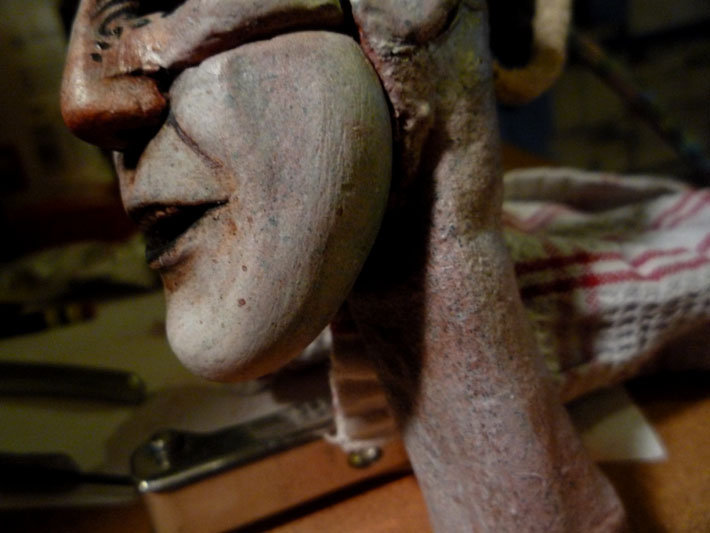 Skin Texture, Stopmotion Puppet © 2012 Jeff Lafferty