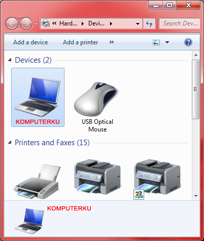 Pada logo Komputer atau Notebook KOMPUTERKU sudah tidak ada lagi tanda