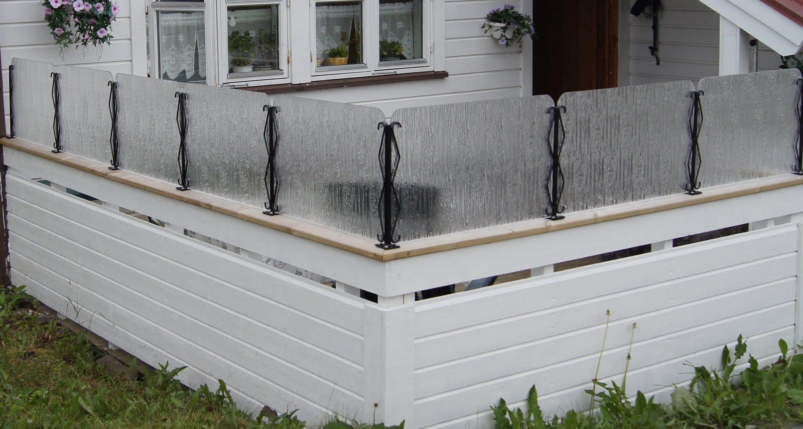 Plexiglass veranda