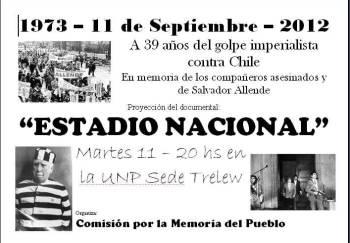 Puerta e trelew proyectan el documental estadio for Puerta 9 del estadio nacional de lima