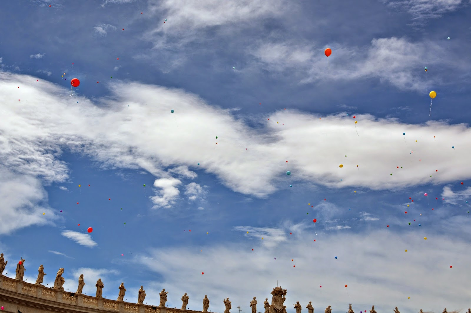 balloons at st peter's square vatican city