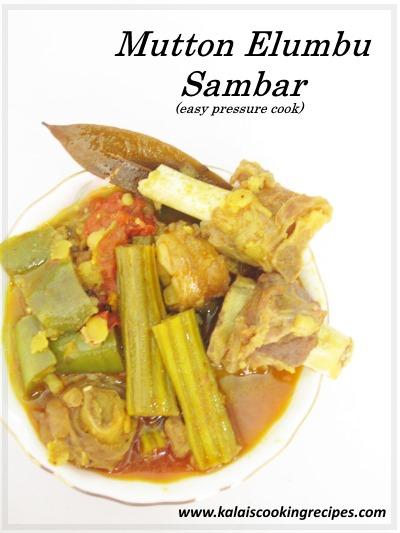 Mutton Elumbu Sambar
