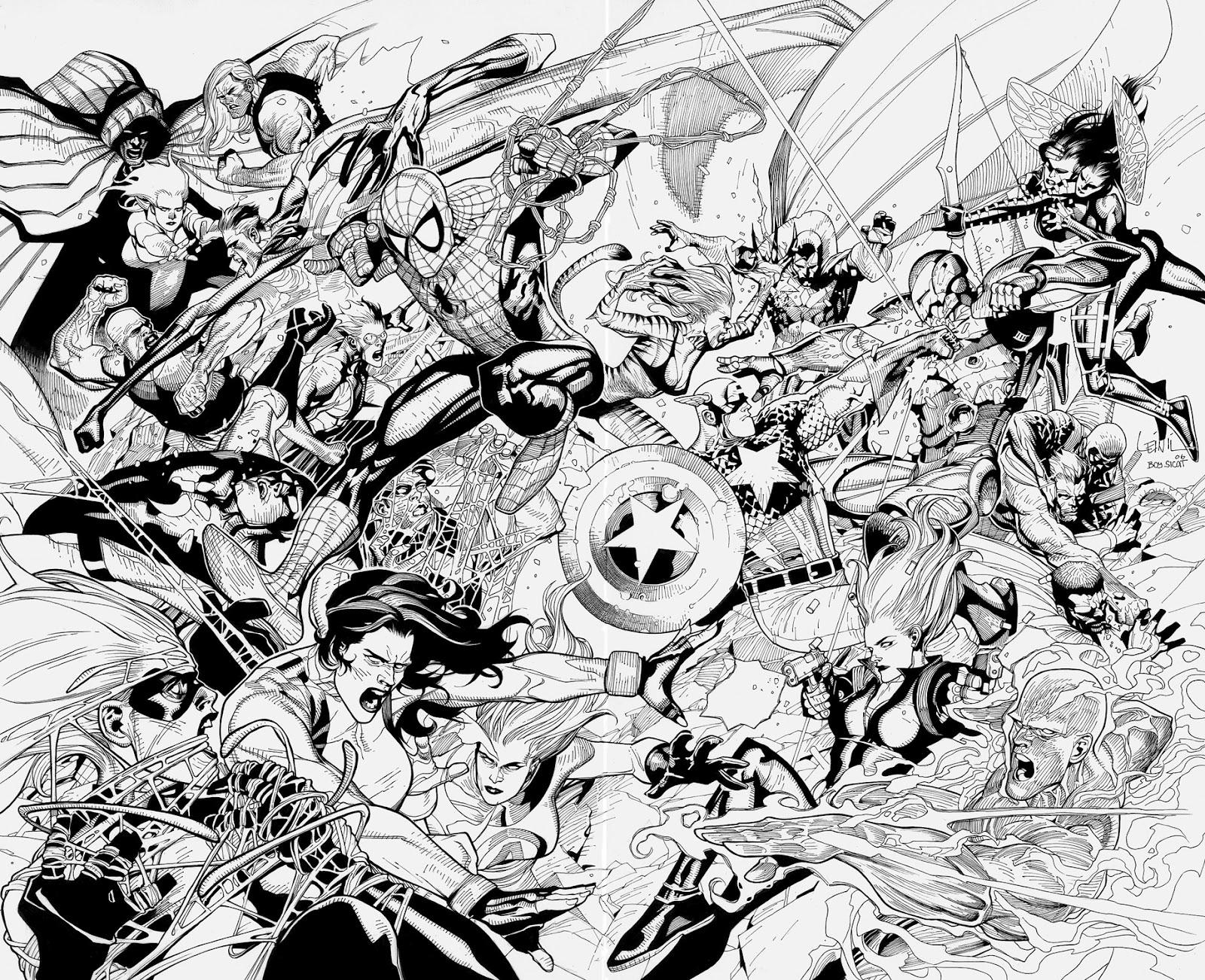 Avengers Team Coloring Pages : Free coloring pages of the avengers team