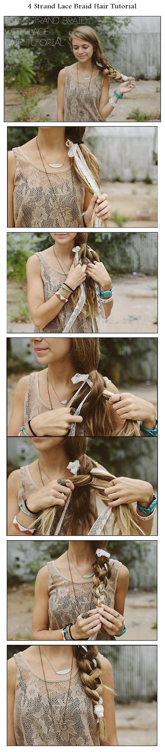 Strand Lace Braid Hair Tutorial | Beauty tutorials