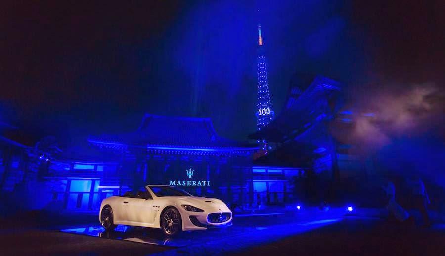 東京タワーもブルーに!マセラティが100周年イベントを開催