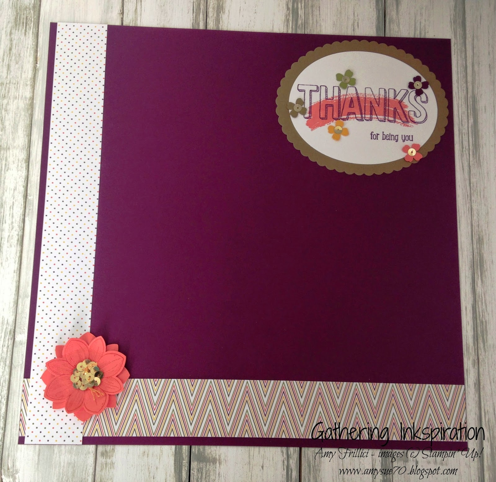 How to scrapbook yahoo - We Start Our Page With A Blackberry Bliss Base Then Add A Couple Of Strips Of The Park Lane Designer Series Paper To The Side And Bottom Of The Page