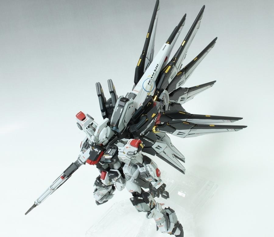 Custom Build: RG 1/144 Strike Freedom Gundam + AEGIS Unit