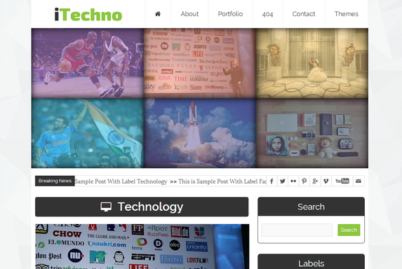 Share Free iTechno Professional Blogger Template