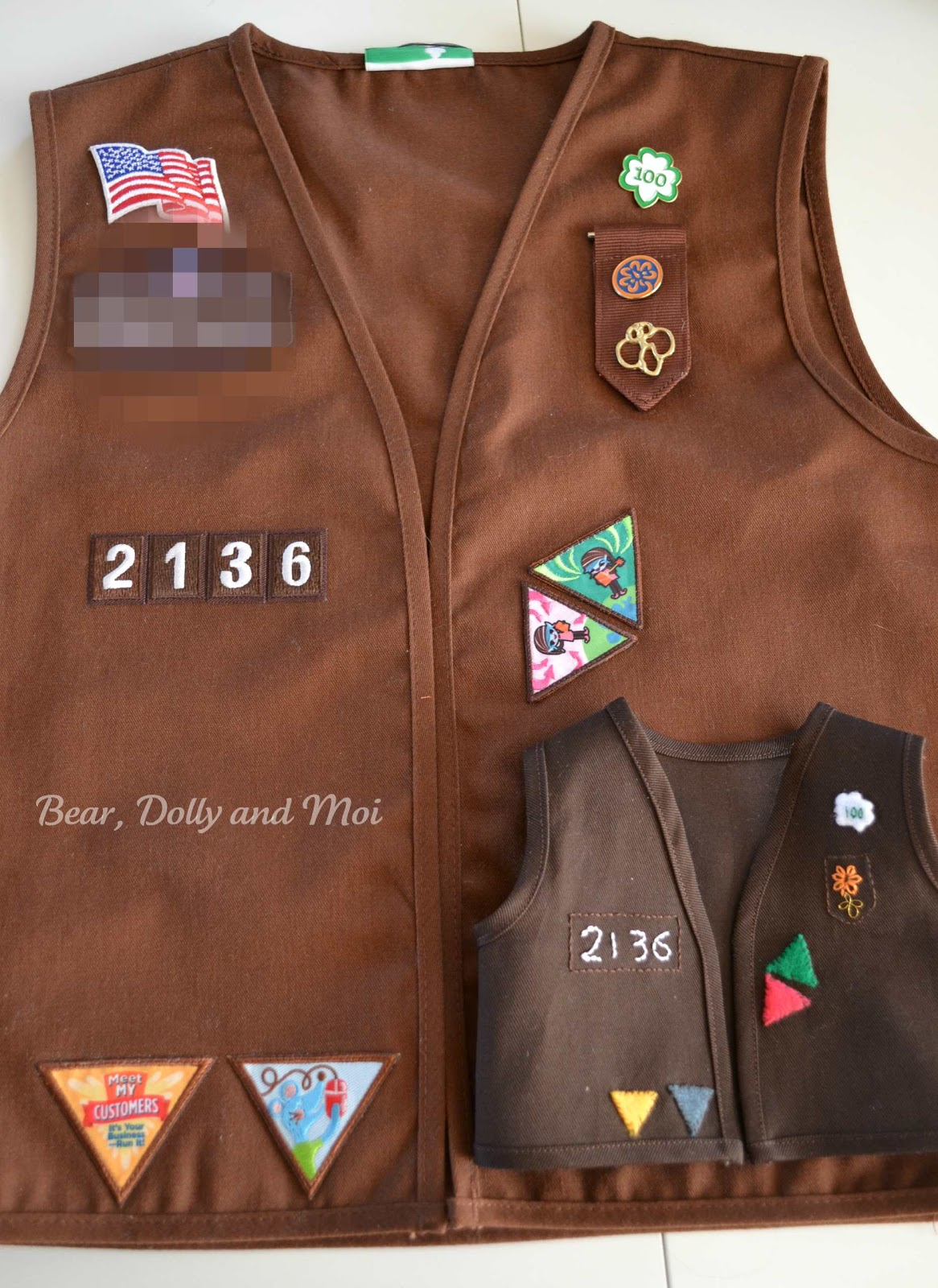 Worksheet Brownie Vests bear dolly and moi doll brownie vest after the vests were made i decorated them to resemble miss c s own vest