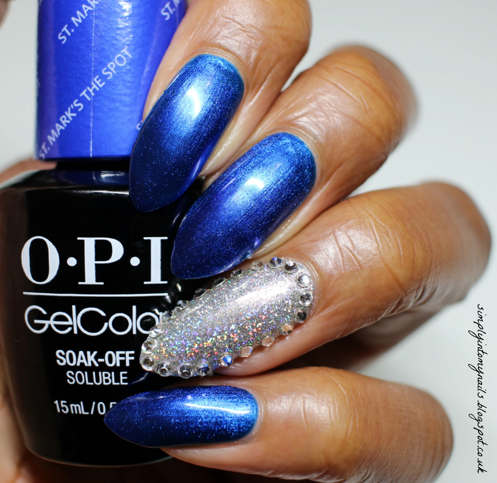 OPI GelColor St Mark\'s The Spot with Lecente Spark | Simply Into My ...