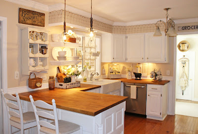 kitchen+2+(2) Junk chic cottage home tour in Chicago