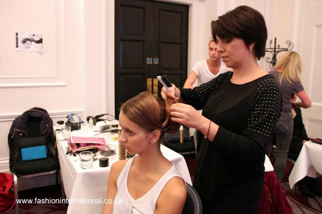 london fashion week, charing cross hotel, models london, makeup, hair stylist, fashion international, backstage, sabina hair mua yunusova