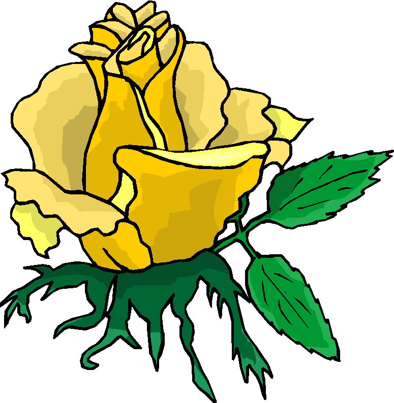 Beautiful Yellow Rose Free Flower Clipart