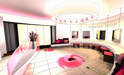 Girl Bathroom Design With Pink Color