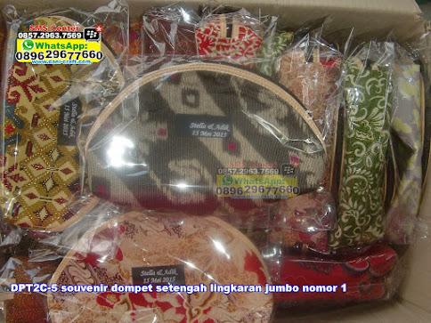 souvenir dompet setengah lingkaran jumbo nomor 1 murah