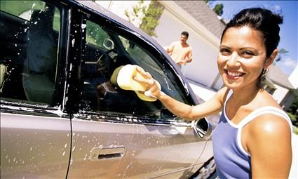 7 Romantic Gestures To Show Him You Care - woman girl wash car sexy