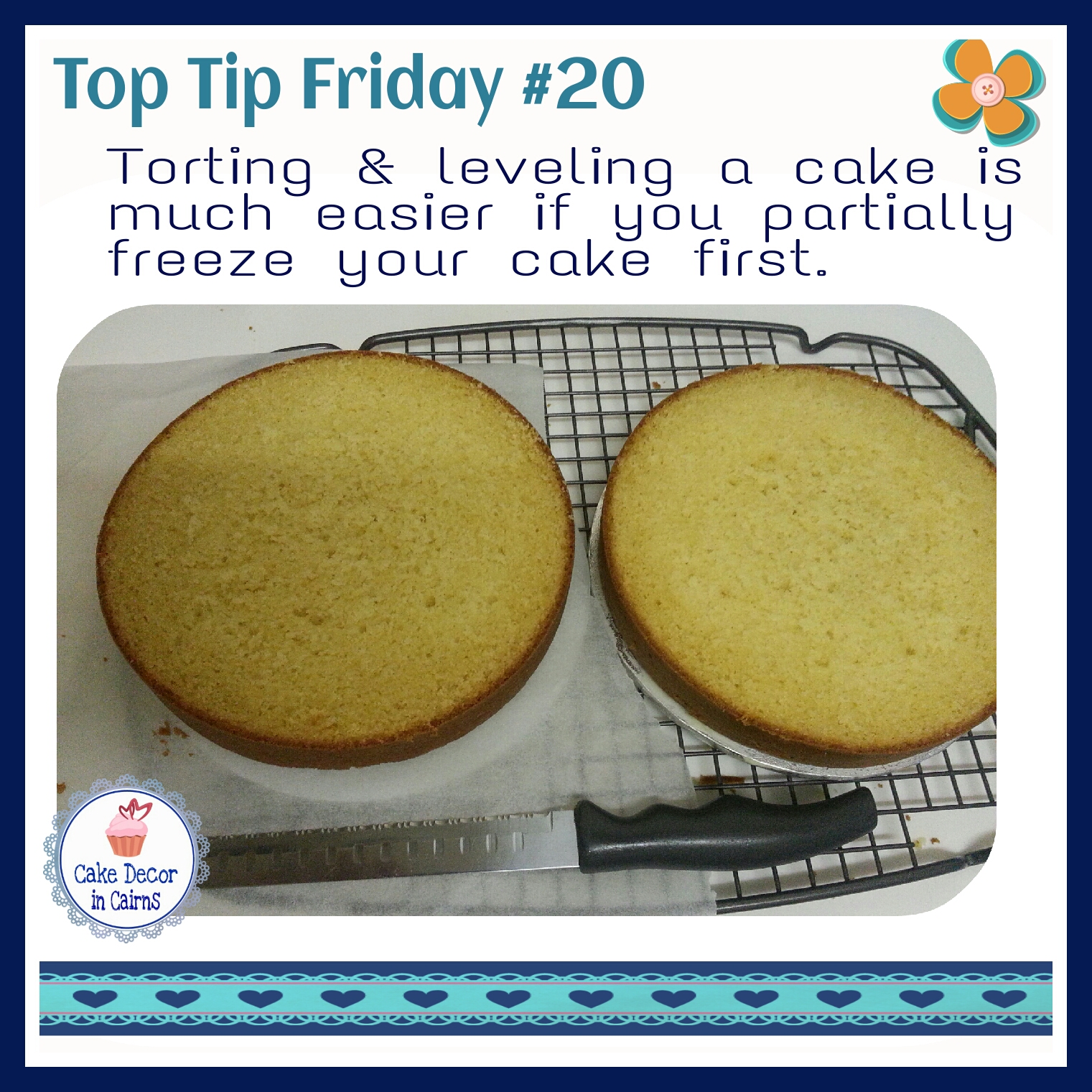Top Tip Friday Torting and Leveling a cake part 1