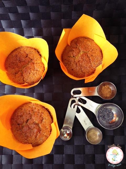 muffins calabaza y especias