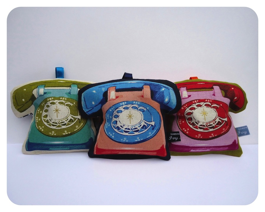 A trio of telephones by Ivy Arch
