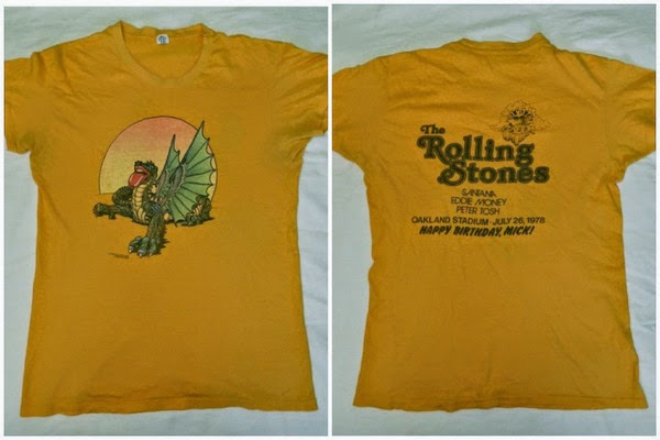 Orange dragon Rolling Stones 26 July 1978 Oakland tour t-shirt