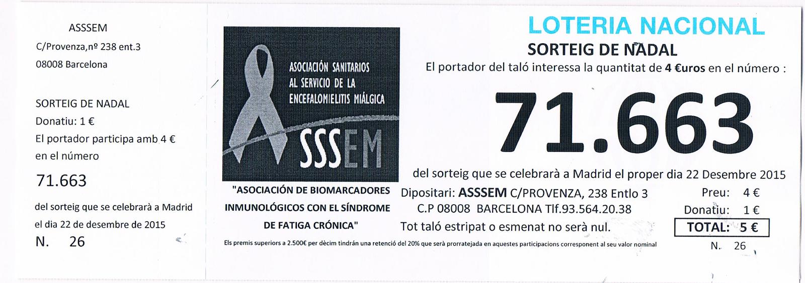 Loteria de NAVIDAD de ASSSEM