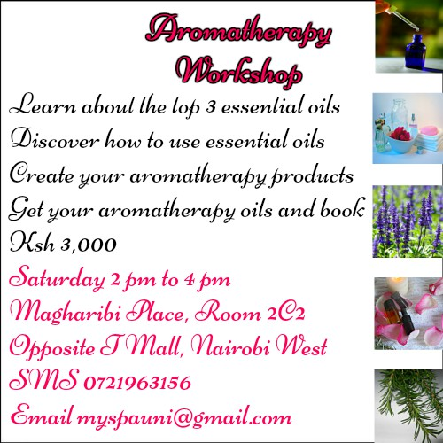 aromatherapy workshop in Nairobi