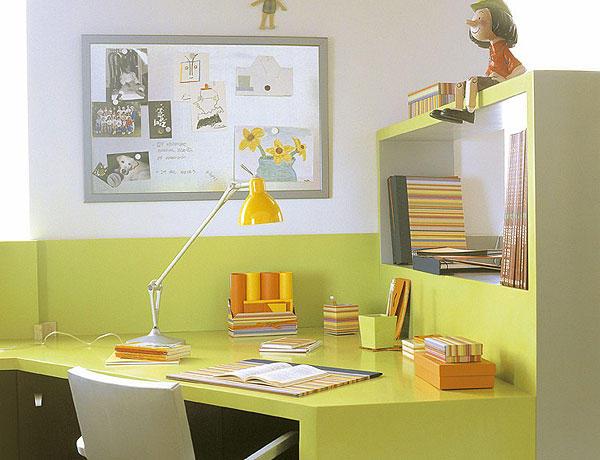 Mesa de escritorio en esquina con estanter a sillas y - Estanterias en esquina ...