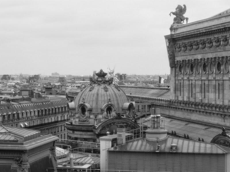 Vue panoramique de Paris - Galeries Lafayette Haussmann