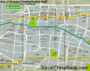 Map of Nanjing Road and Huaihai Road