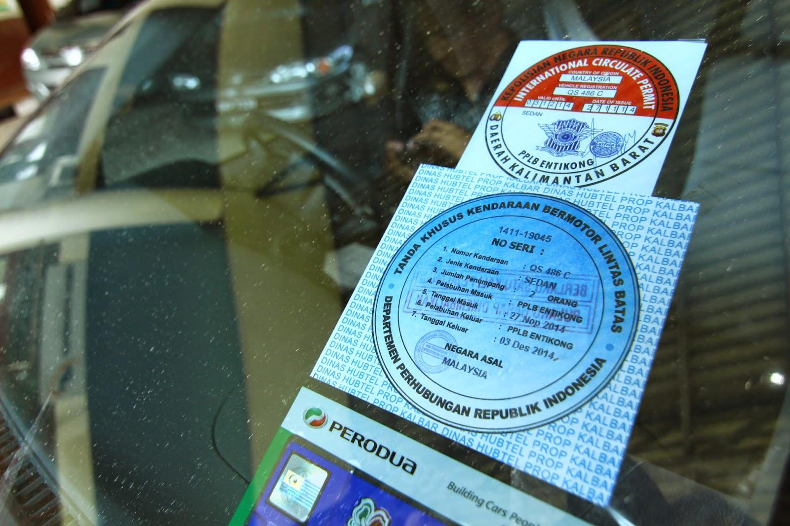 Sticker ini perlu ditampal sepanjang anda berada di Indonesia
