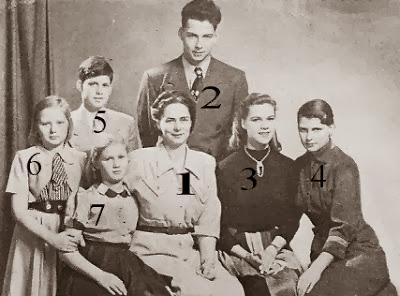 Archiduchesse Anton d'Autriche-Toscane, née princesse Ileana Roumanie, et ses enfants