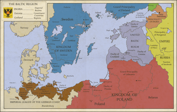 Alternate History Weekly Update Map Monday The Baltic Region By - Sweden map history