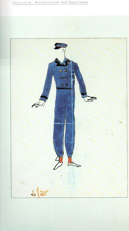 PRUNA, Pedro, desenho de figurino para A Pastoral  (Paris, 1926).