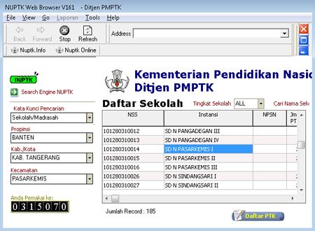 NUPTK Web Browser, Aplikasi Untuk Mencari NUPTK Secara Cepar dan Tepat