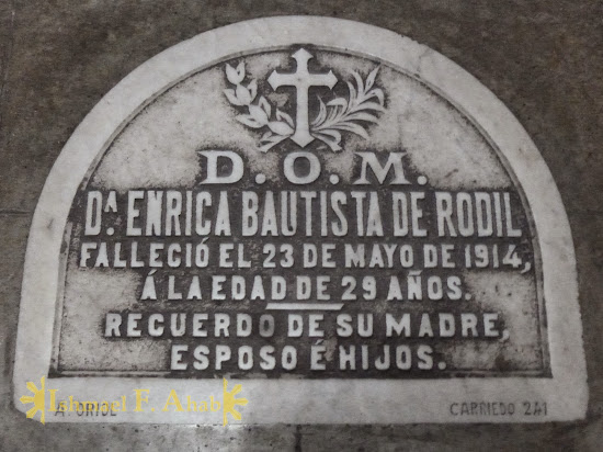 Grave marker in Santa Ana Church, Manila