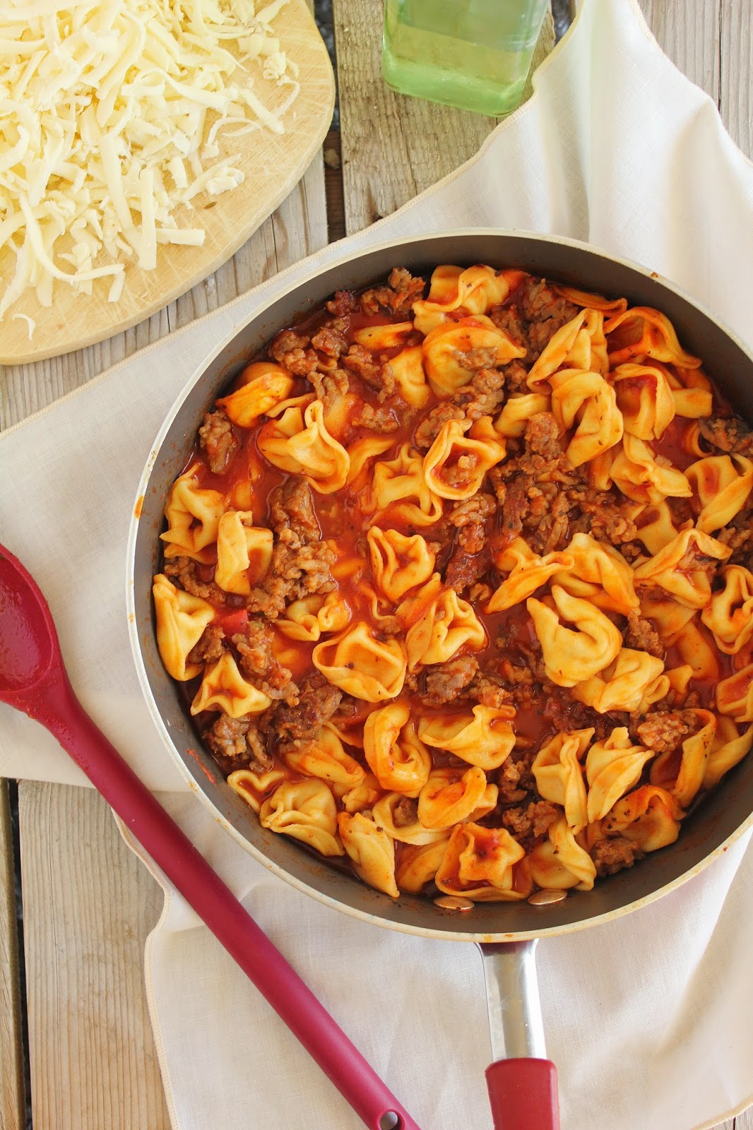 Sausage And Tortellini Skillet