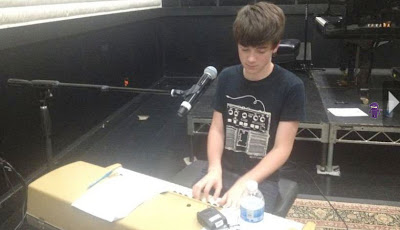 Greyson Chance practicing Sunshine & City Lights Video