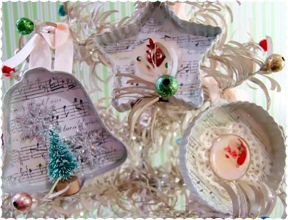Alyssabeths vintage creating christmas glitter chic