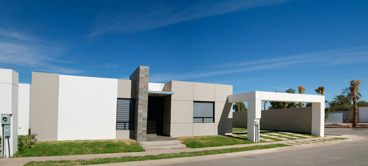 Fachadas de casas modernas fachada de la casa modelo - Casas blancas modernas ...