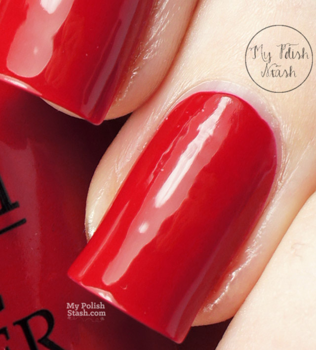 red nail polish swatch