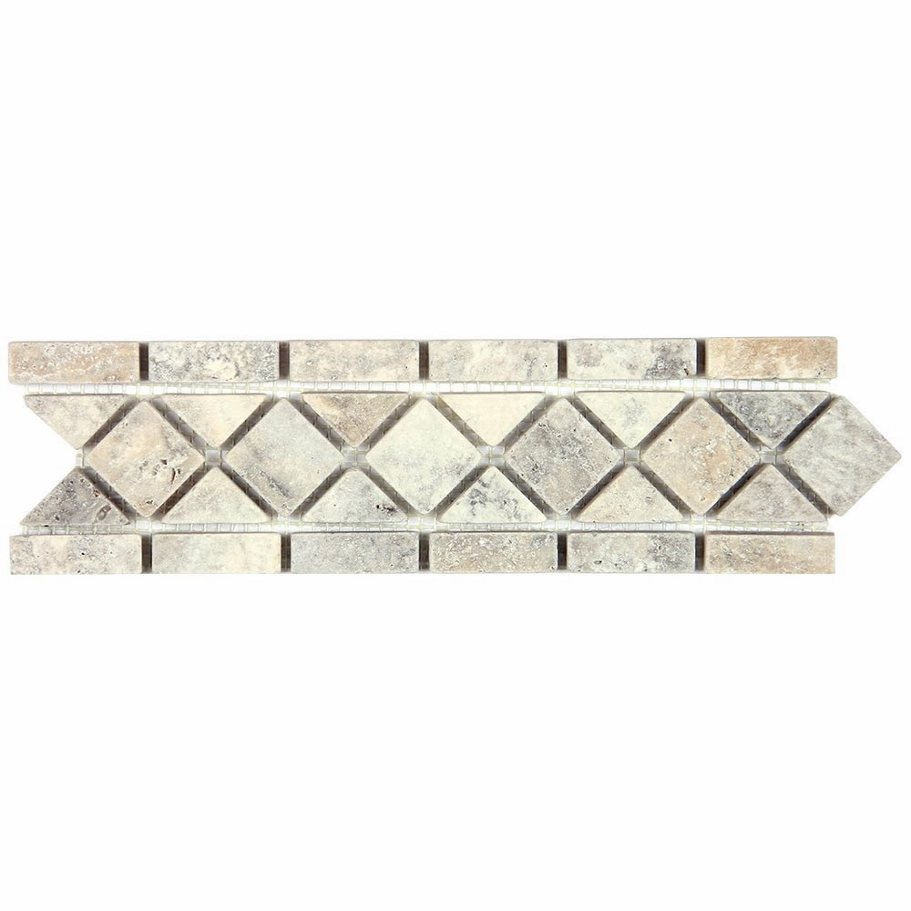 Silver Travertine Wall, Floor, Bathroom, Kitchen Tile, Mosaic and ...