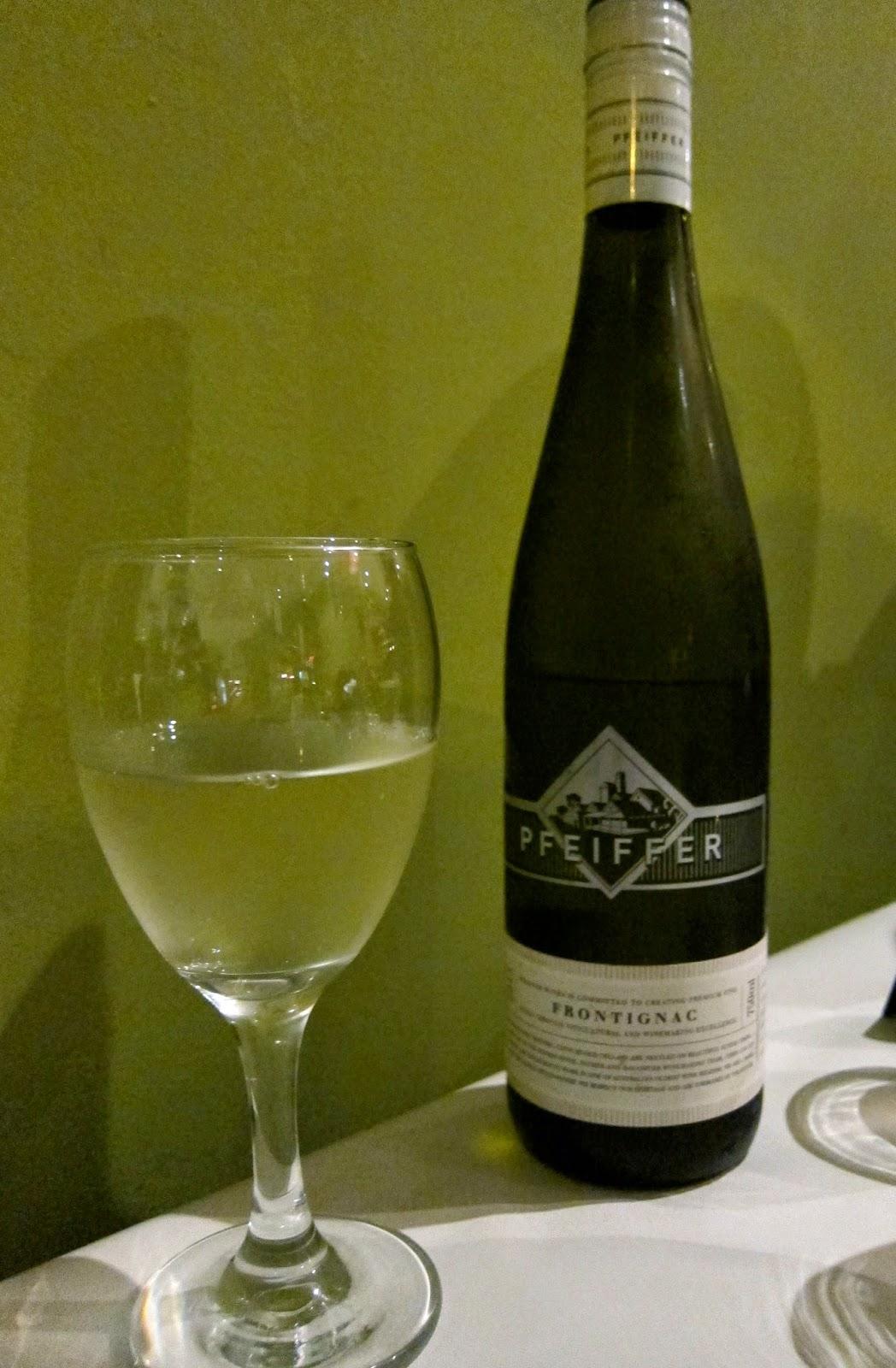 pfeiffer frontignac wine
