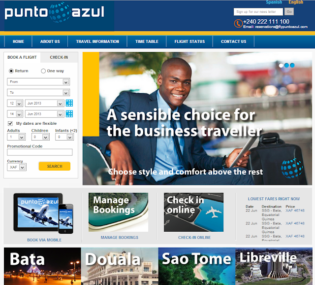 Punto Azul - new web site and IBE using ezyFlight