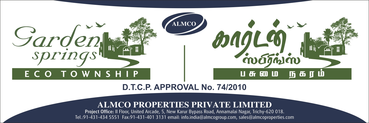 ALMCO PROPERTIES DTCP APPROVED PLOTS: DTCP Approved Plots in Garden ...